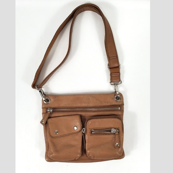 0c3cae7fe5c Fossil Flat Front Zip Leather Crossbody Bag B4